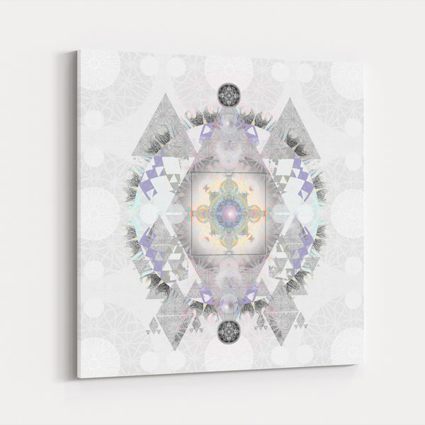 Cathedral Geometric Geometry Pastels Canvas