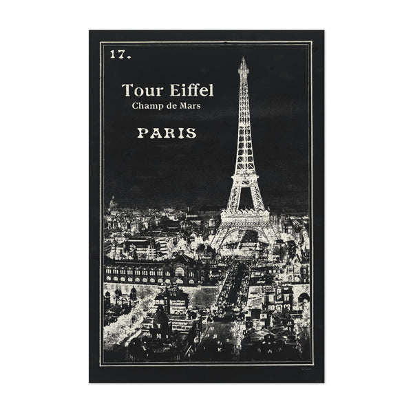 Paris France Eiffel Tower Retro Art Print