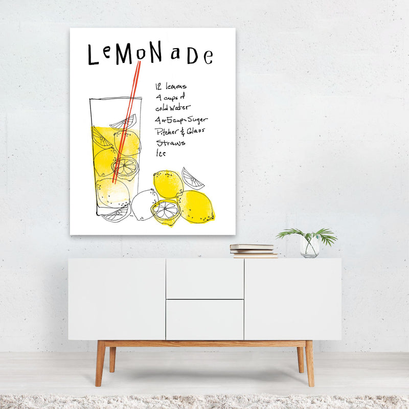 Kitchen Lemon Typography Art Print