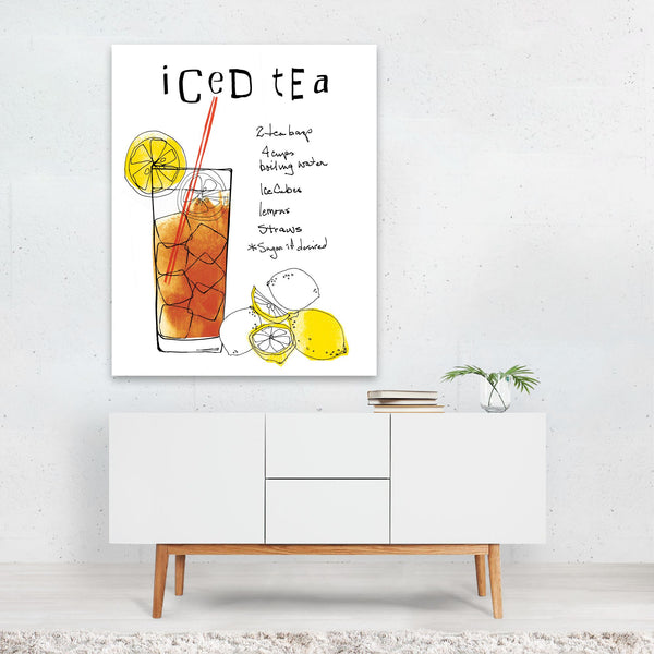 Kitchen Lemon Tea Typography Art Print