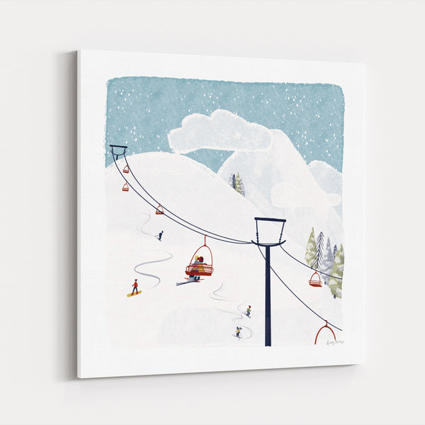 Mountains Nature Skiing Snow Sports Canvas