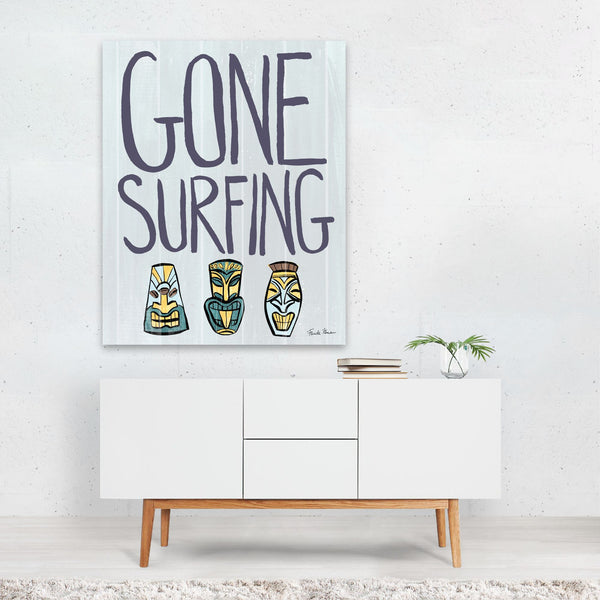 Beach Waves Tropical Surfing Art Print