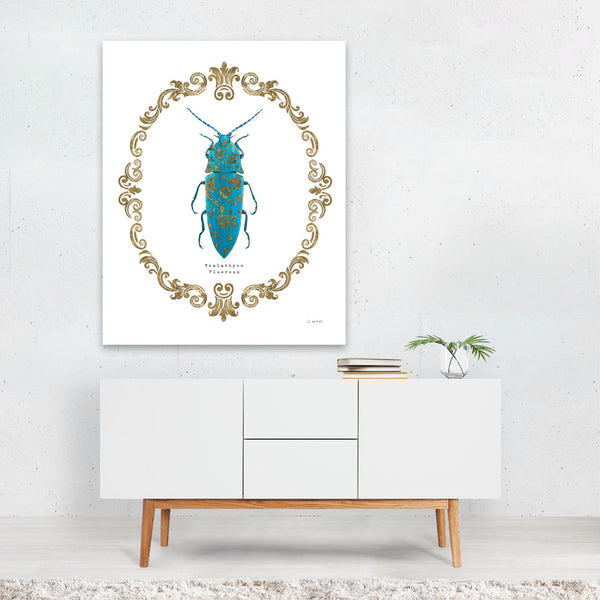 Floral Insects Beetle Illustration Art Print