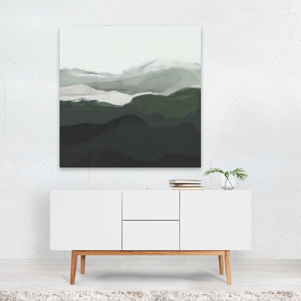 Abstract Landscape Minimal Modern Canvas