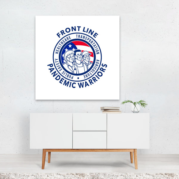 Agriculture American Circles Flags Canvas