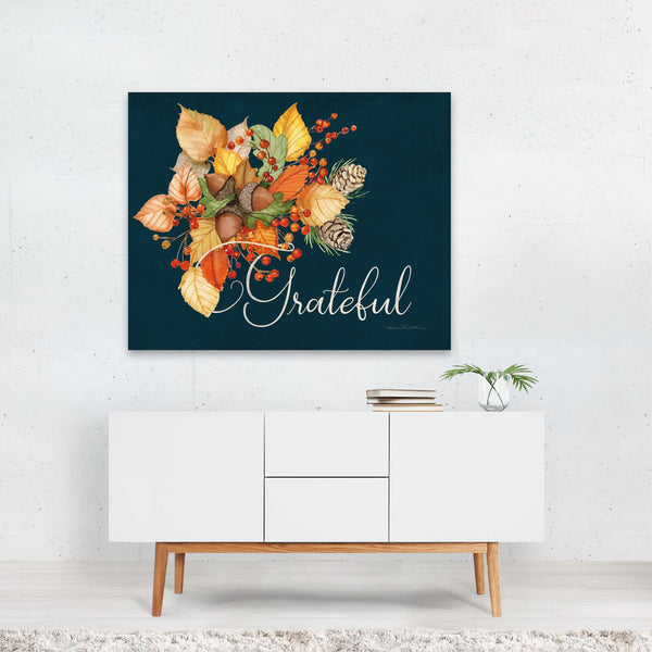 Floral Autumn Pine Cone Holiday Art Print
