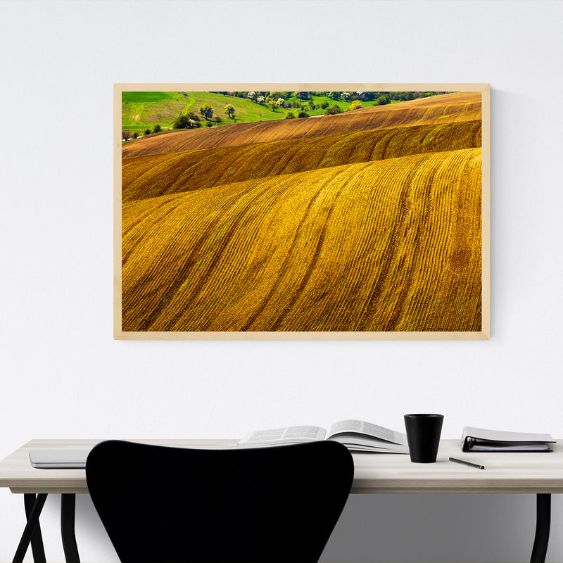 Bulgaria Farm Field Rural Nature Framed Art Print