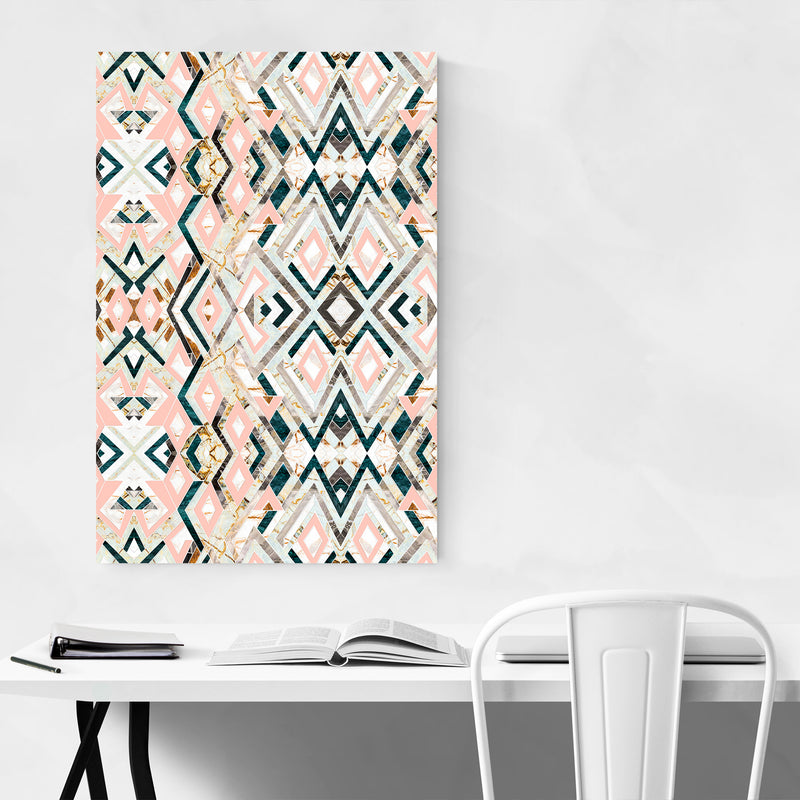 Abstract Geometric Pattern Texture Art Print