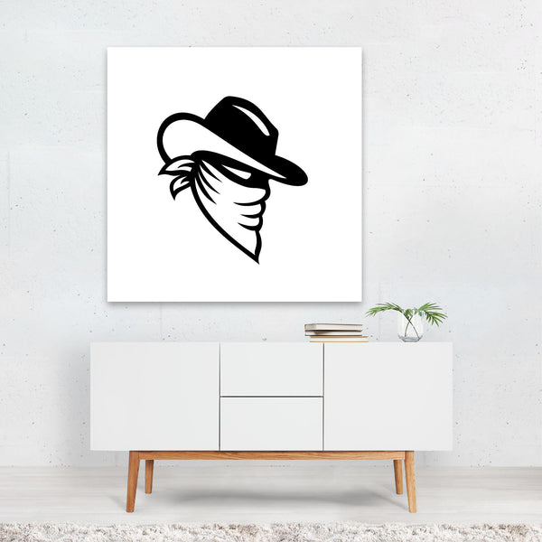 Black And White Black-and-white Cowboy Canvas