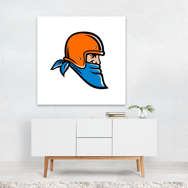 Cartoon Football Retro Signs Sports Canvas