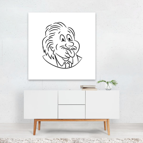 Albert Einstein Black And White Canvas