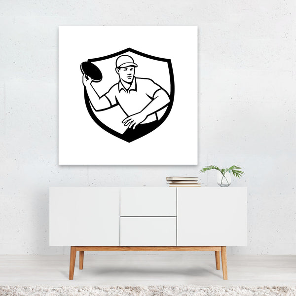 Black And White Black-and-white Cartoon Canvas