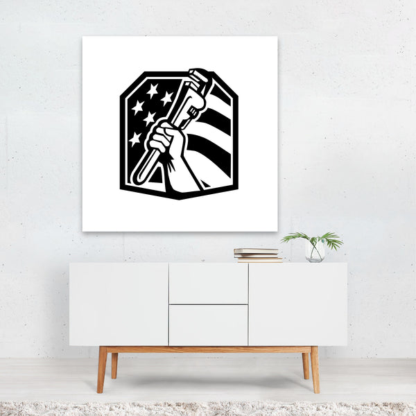 American Animals Black And White Canvas