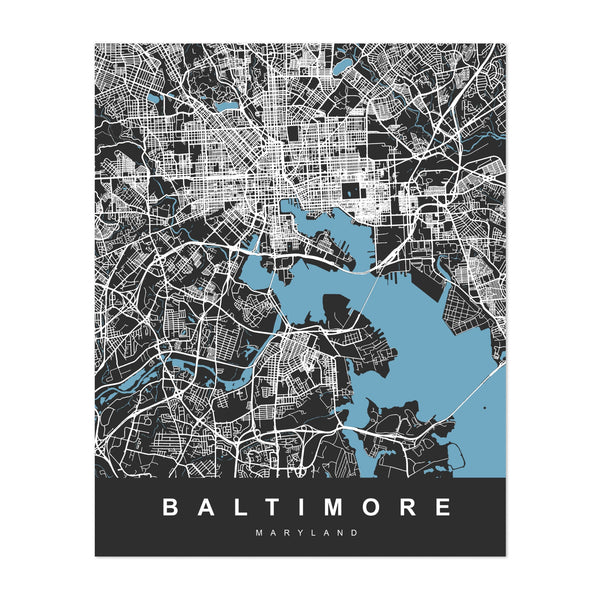 Baltimore City Map Maryland, United States