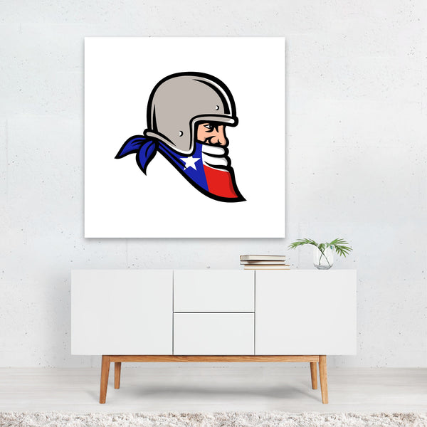 Cartoon Flags Football Retro Signs Canvas