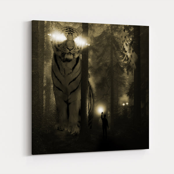 Alien Animals Black-and-white Dragonfly Canvas