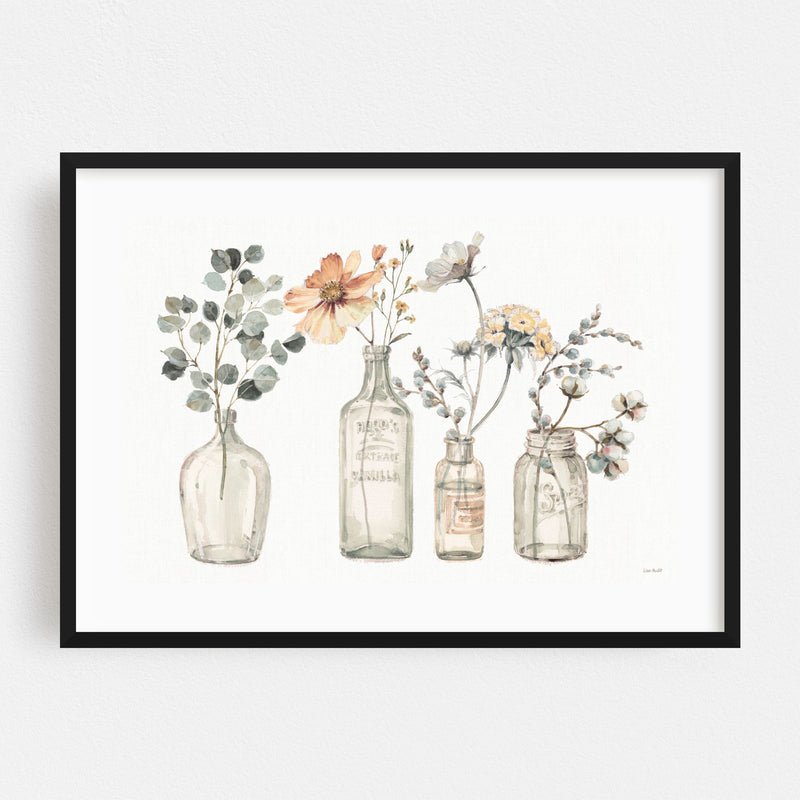 Watercolor Floral Autumn Painting Framed Art Print