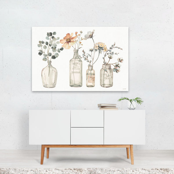 Watercolor Floral Autumn Painting Art Print