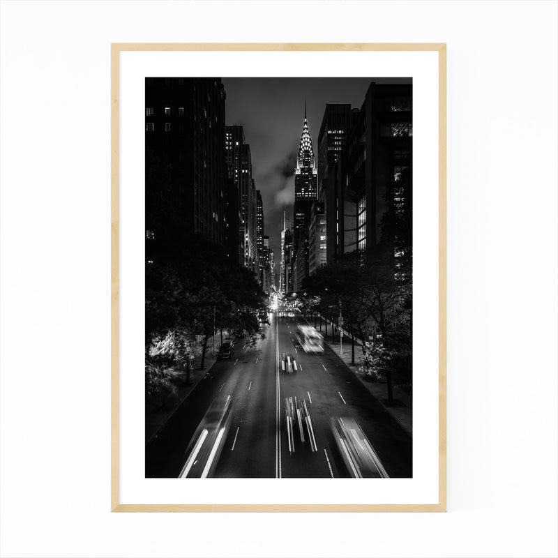 Midtown Manhattan Skyline NYC Framed Art Print