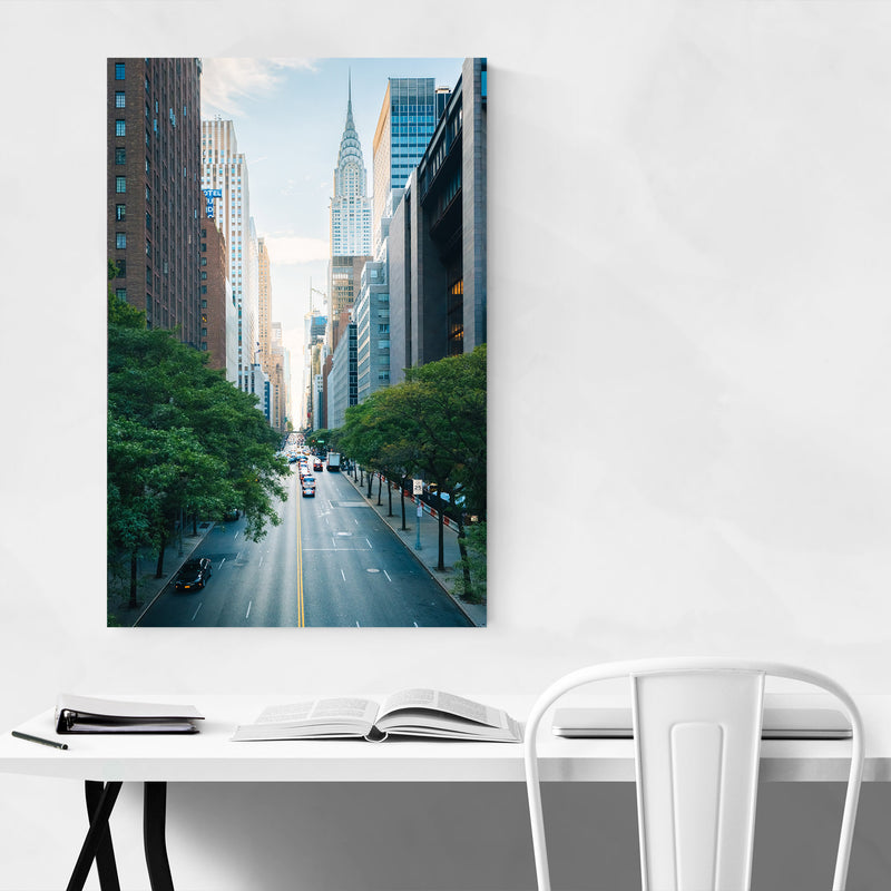 Midtown Manhattan Skyline NYC Metal Art Print