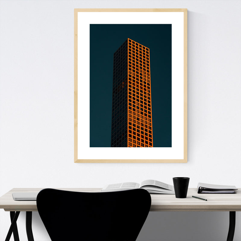 Modern Architecture Midtown NYC Framed Art Print