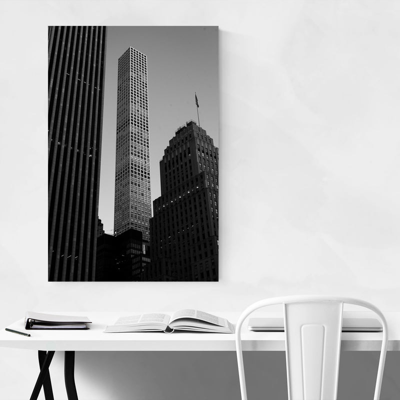 Modern Architecture Midtown NYC Metal Art Print