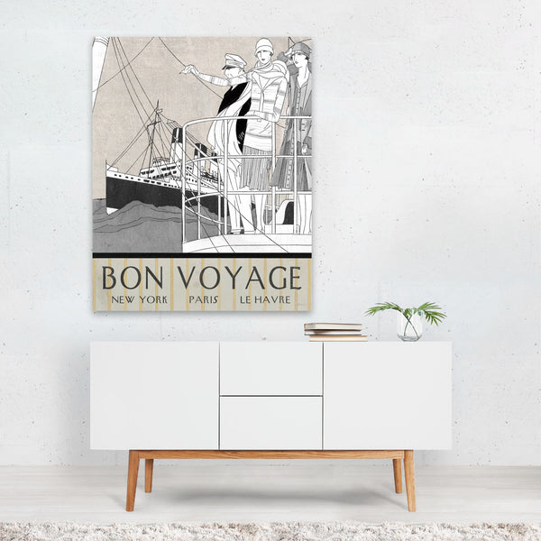 Beach Nautical Travel Poster Art Print