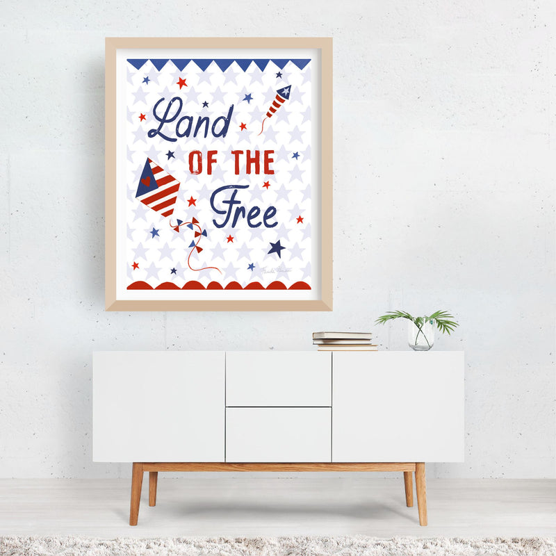 Holiday Motivational Fireworks Fire Framed Art Print