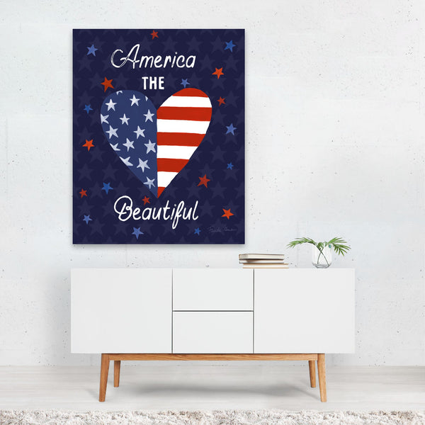 Heart Flags Holiday Typography Art Print