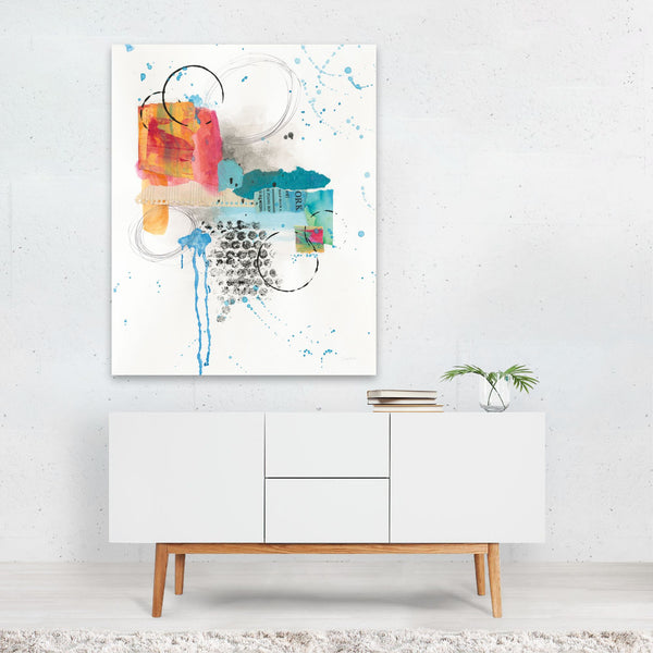 Abstract Urban Skyline Collage Art Print