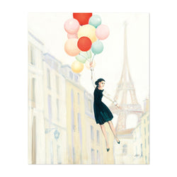 Paris France Eiffel Tower Balloons Art Print