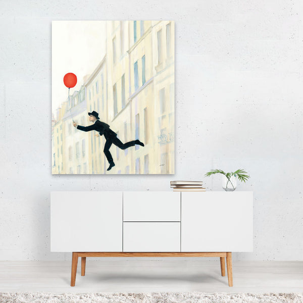 Paris France Urban Balloons Art Print