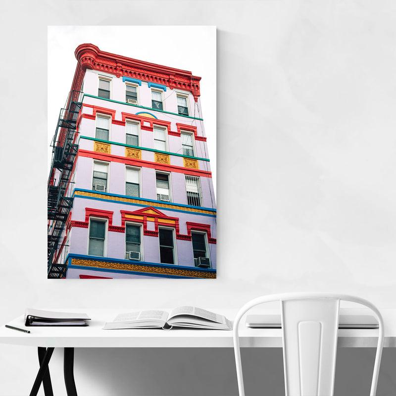 East Village New York City Urban Metal Art Print