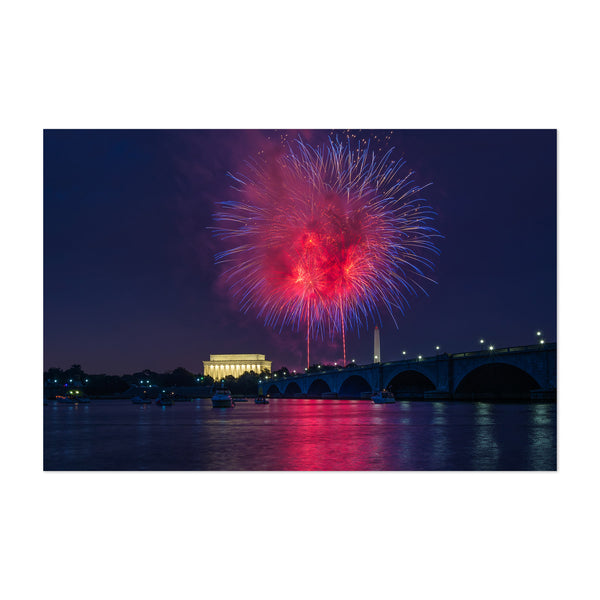 Washington DC Fireworks Photo Art Print