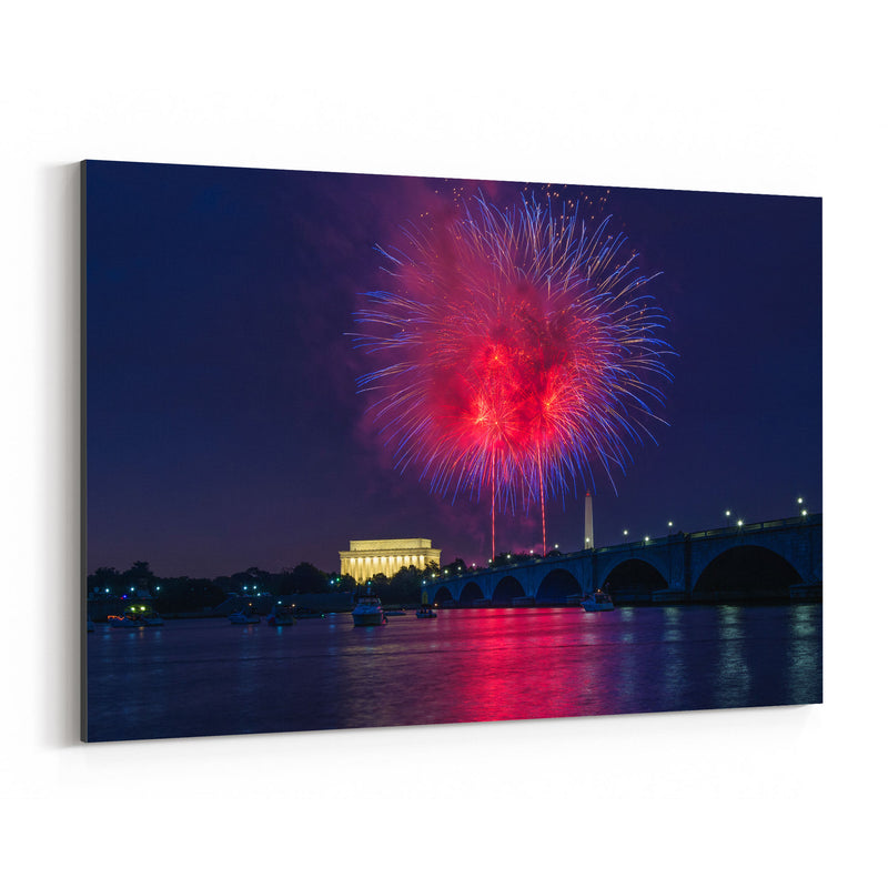 Washington DC Fireworks Photo Canvas Art Print
