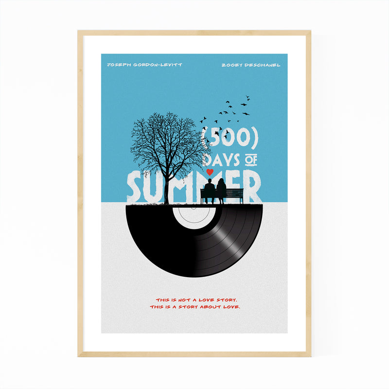 500 Days of Summer movie poster Framed Art Print