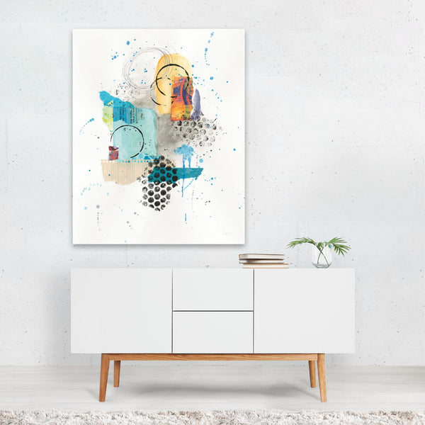 Abstract Urban Skyline Painting Art Print