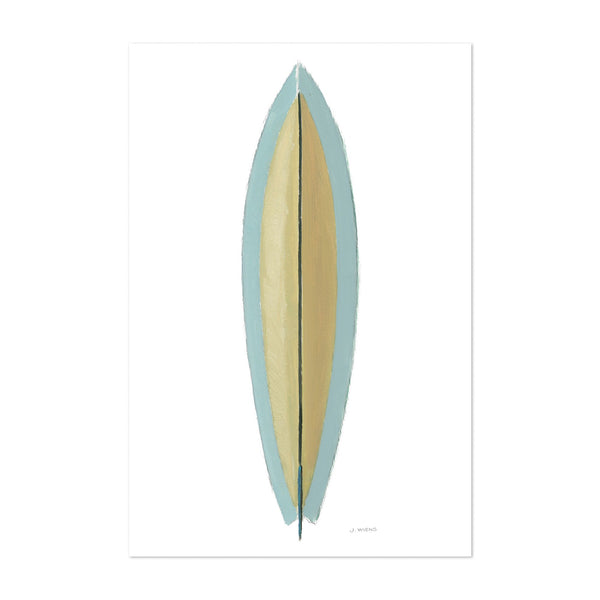 Sports Beach Surfing Illustration Art Print