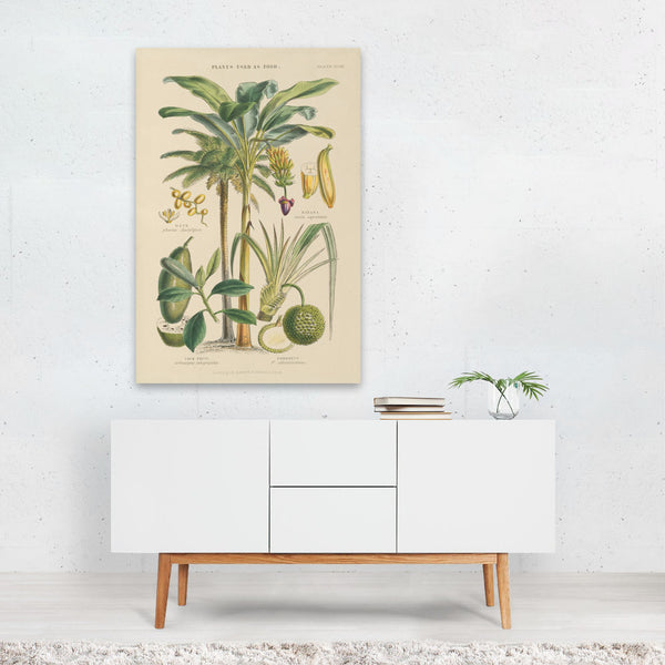 Fruit Beach Floral Beach Retro Banana Art Print