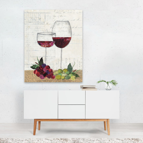 Kitchen Alcohol Wine Collage Art Print