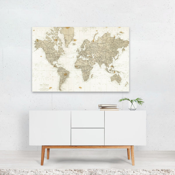 Maps Retro Travel Poster Globe Map Art Print