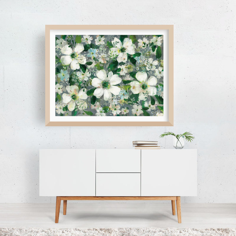 Floral Daisy Friends Anemone Framed Art Print