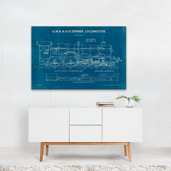 Rain Retro Trains Train Illustration Art Print