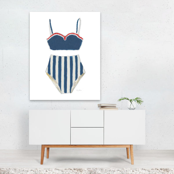 Feminine Beach Fashion Swimming Retro Art Print