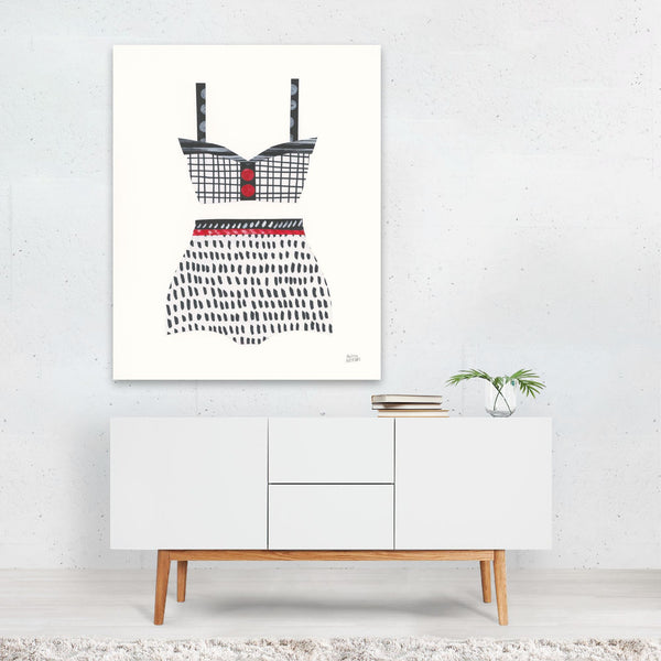 Feminine Urban Fashion Retro Art Print