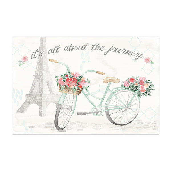 Paris France Eiffel Tower Motivational Art Print