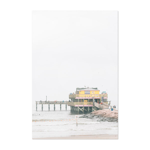 Fishing Pier Galveston Texas Art Print