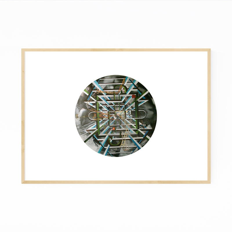 Abstract Painting Circle Framed Art Print