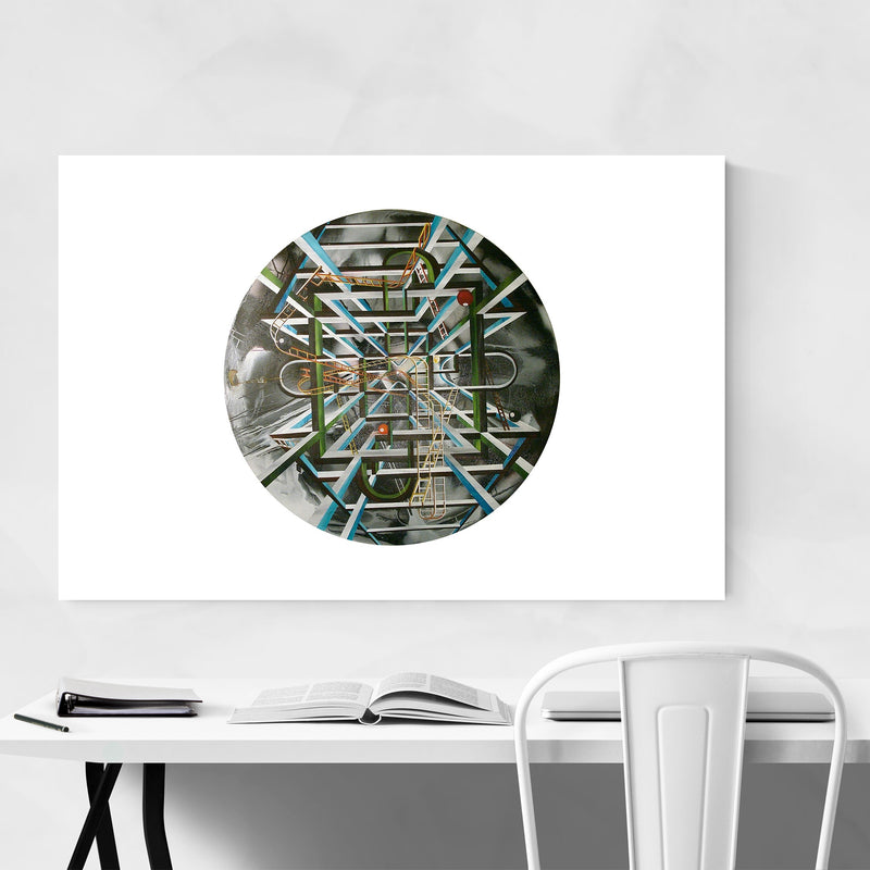 Abstract Painting Circle Art Print