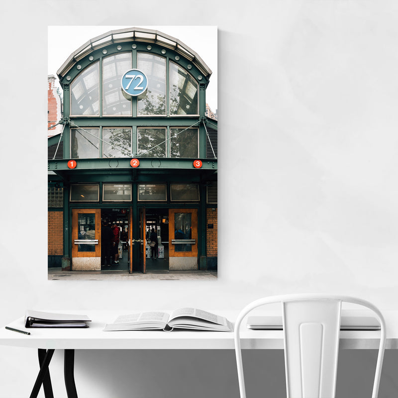 72nd & Broadway Subway New York Metal Art Print